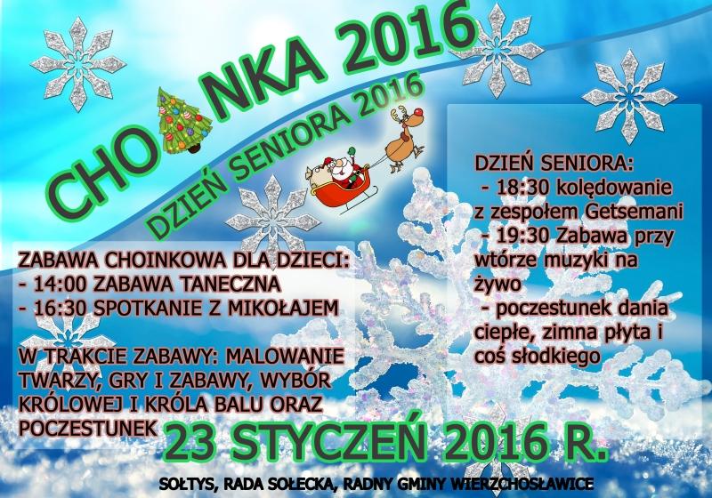 plakat choinka 2016