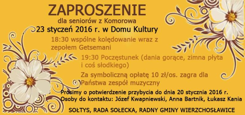 zaproszenie dzien seniora 2016