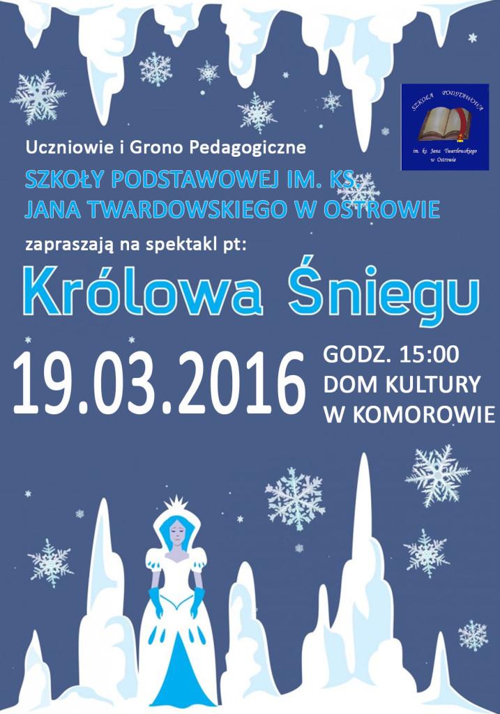 plakat królowa śniegu